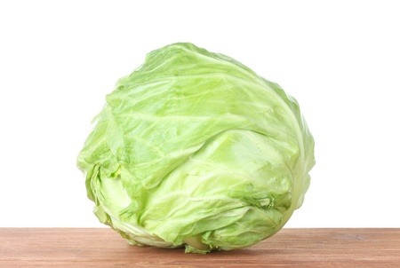 Cabbage on wooden Stock Photo