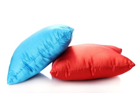 bright pillows isolated on white Stock Photo - 13865777