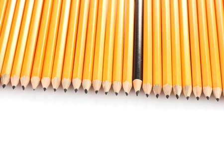 lead pencils isolated on white Stock Photo - 13865757