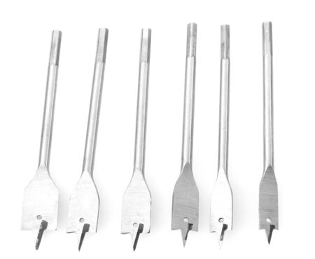 drill bits for wood isolated on white photo