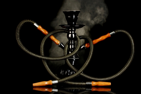hookah smoke on black background Stock Photo - 13901579