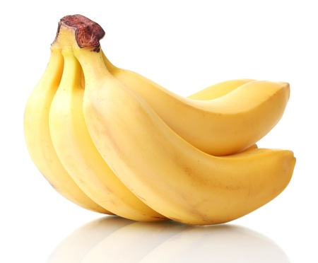 Bunch of bananas isolated on white photo