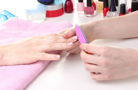 Manicure process in beautiful salon Stock Photo - 13943354