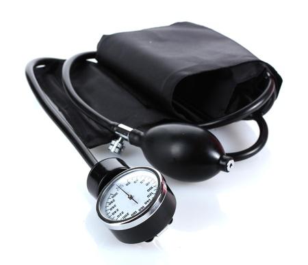Black tonometer isolated on white Stock Photo - 13940916