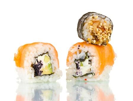 Tasty rolls isolated on white Stock Photo - 13997750