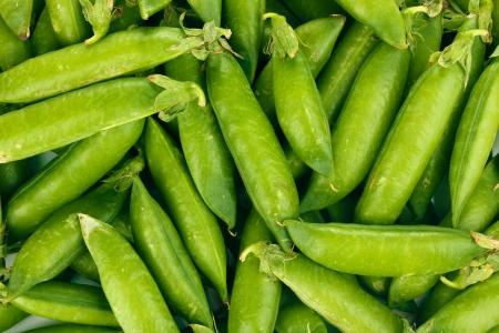 ejotes: Guisantes verdes en primer plano