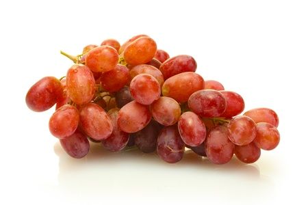 red taste: ripe sweet grapes isolated on white