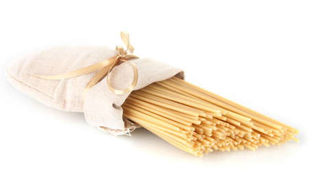pasta in a bag isolated on white photo