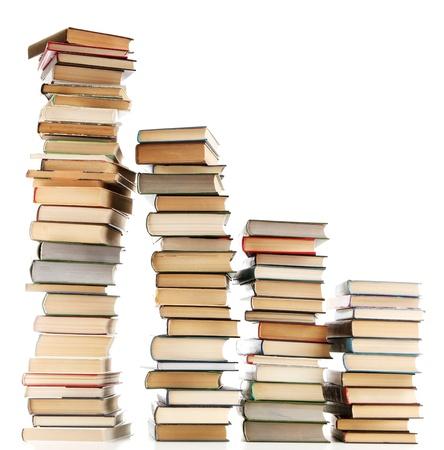 old books: alte B�cher isoliert auf wei�