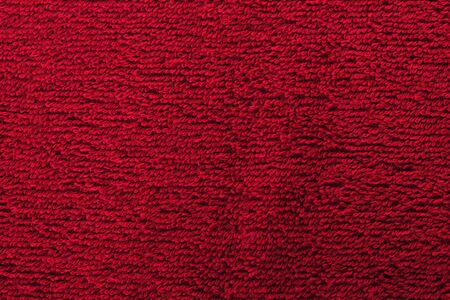 red bright towel close up photo