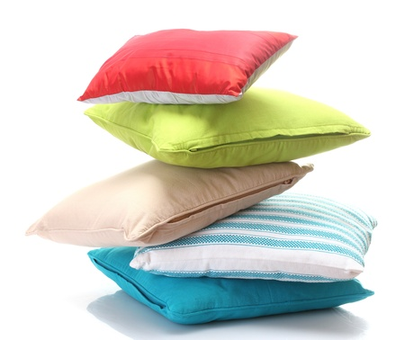 bright pillows isolated on white Stock Photo - 14098518