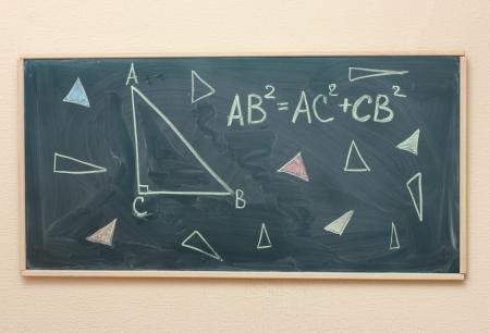 Math formulas written on the desk Stock Photo - 14099698