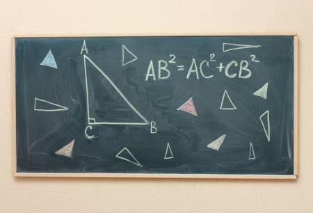Math formulas written on the desk Stock Photo - 14099698