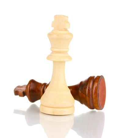 Pezzi degli scacchi isolato su bianco