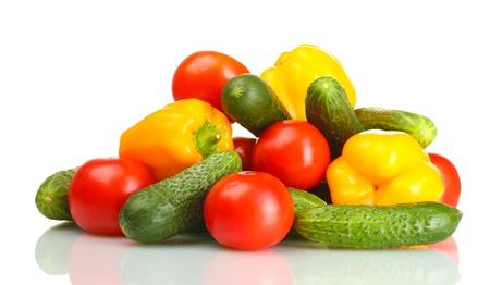fresh vegetables isolated on white Stock Photo - 14170121