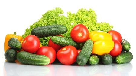 fresh vegetables isolated on white photo
