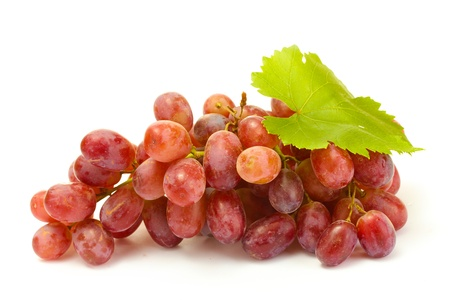 ripe sweet grapes isolated on white photo