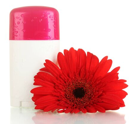 deodorant with flower isolated on white Stock Photo - 14161986