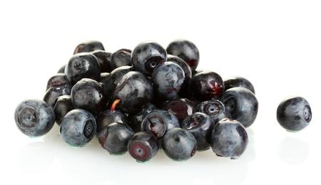Fresh blueberries isolated on white photo