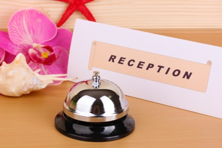 Hotel reception isolated on white Stock Photo - 14173982