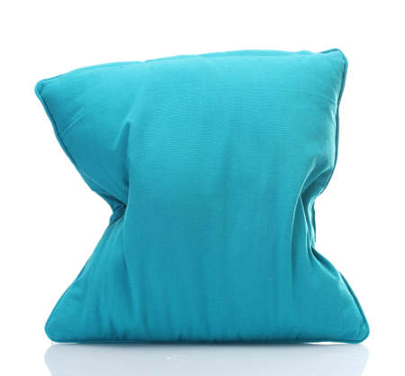 blue bright pillow isolated on white Stock Photo - 14177155
