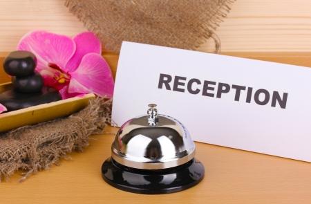 Hotel reception isolated on white Stock Photo - 14454370