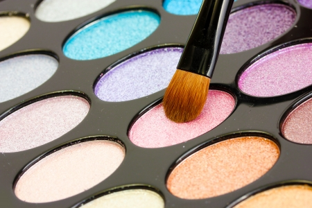 shadow kit with brush for make-up photo
