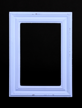 Wooden frame isolated on black
