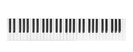 synthesizer isolated on white photo