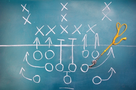 American football plan on blackboard Stock Photo - 14520066