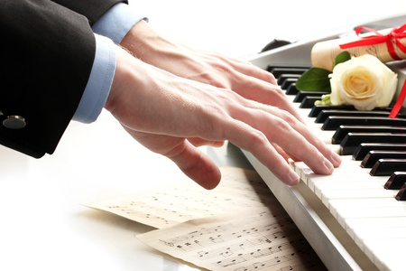 hands of man playing piano Stock Photo - 14519250