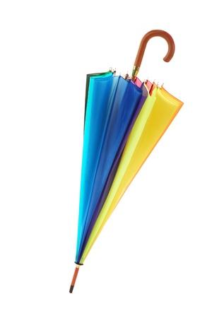 yellow umbrella: colorful umbrella, isolated on white