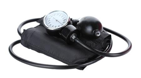 Black tonometer isolated on white photo