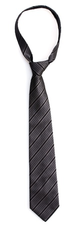 ironed: Elegant grey tie isolated on white