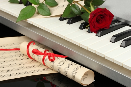 background of piano keyboard Stock Photo - 14706189