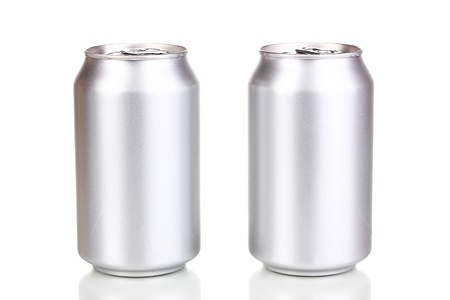 aluminum cans isolated on white Stock Photo - 14694480