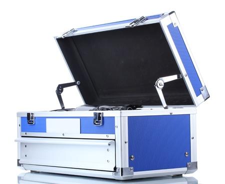 industrial mechanics: caja de herramientas aisladas en blanco Foto de archivo