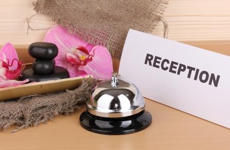 Hotel reception isolated on white Stock Photo - 14746140