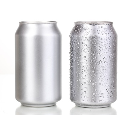 aluminum cans isolated on white Stock Photo - 14738936