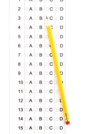 A, B, C, D test close-up Stock Photo - 14741588