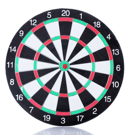dart concept: dart board isolated on white