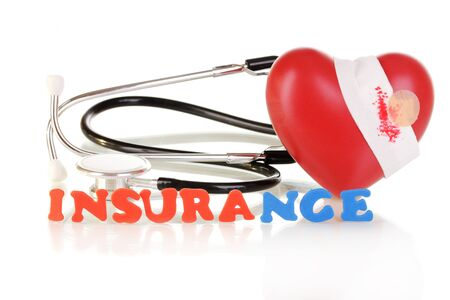 concept of health insurance isolated on white Stock Photo
