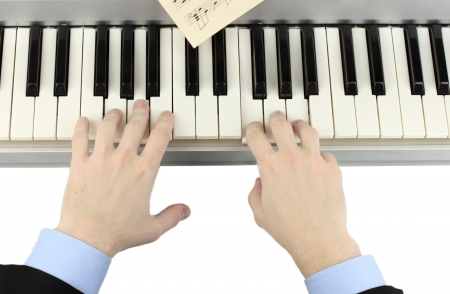 hands of man playing piano Stock Photo - 14838983