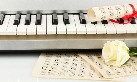 background of piano keyboard photo