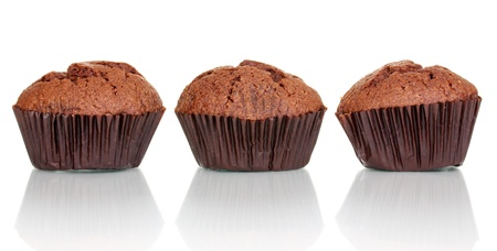 cupcakes isolated: Fresh muffins isolated on white