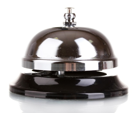 campanas: Servicio campana aislado sobre fondo blanco Foto de archivo