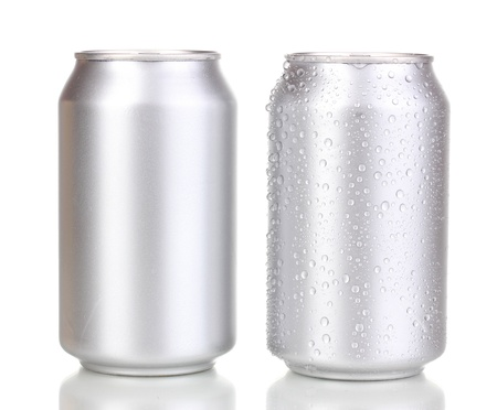 aluminum cans isolated on white photo