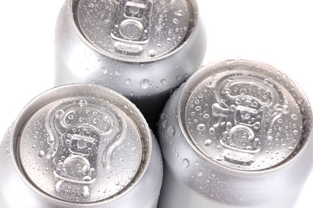 aluminum cans isolated on white Stock Photo - 14919149