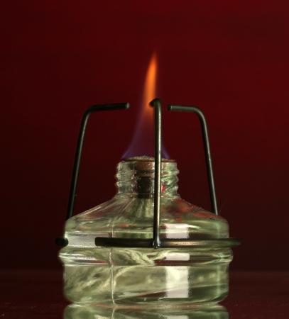 reagents: spiritlamp on red background