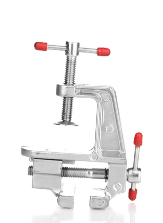 vise grip: Vice isolated on white